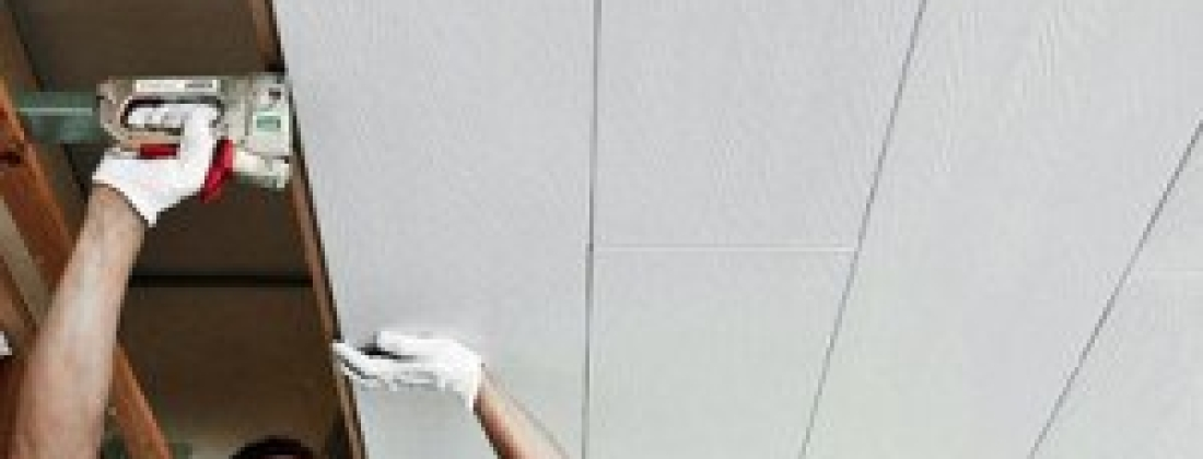 Монтаж ПВХ панелей на потолок!