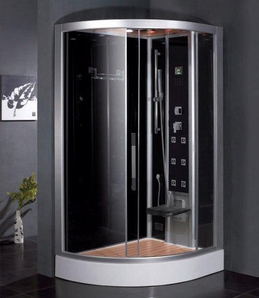 Червяки в душевой кабинке черные 7 фотография
